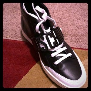 Men's black/white Moschino sneakers